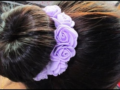 DIY : #145 Foam Flowers Hair Pin - 5 SECOND DIY ♥