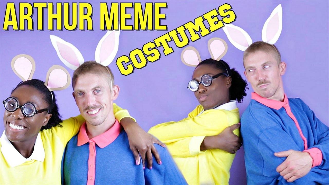 diy arthur meme costume! easy halloween costumes!