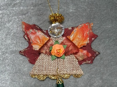 DIY~Beautiful And EASY Fall Angel Ornament!