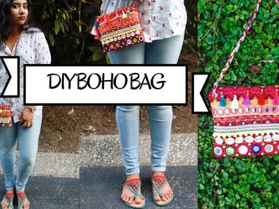 DIY Boho Crossbody bag.purse with zipper | FashionMoksha