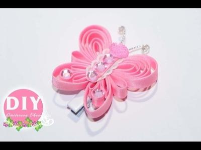 DIY.Butterfly hairclip.hair ornament. Bias binding