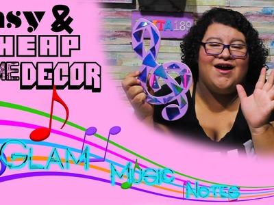 DIY Cheap Home Decor - Music Note Glam. Anita189