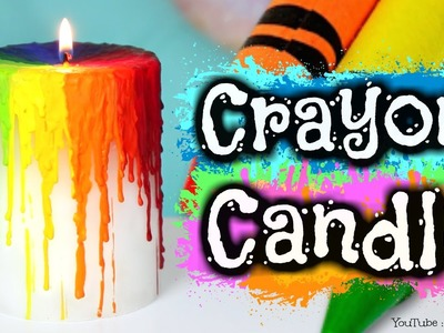 DIY Crayon Drip Candle - Melting Crayons How To - Rainbow Melt Candles & Halloween