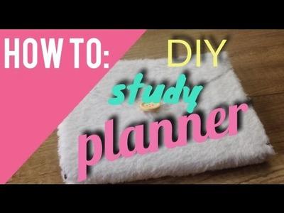 DIY CUTE STUDY PLANNER. SCHOOL ORGANIZATION