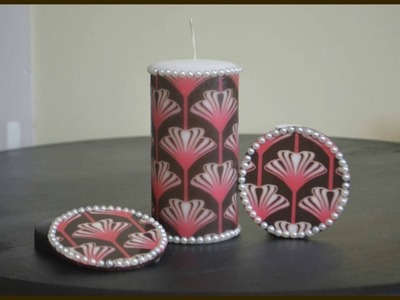 DIY Decoupage Coasters With Easy Cast Resin. Gift (HD)