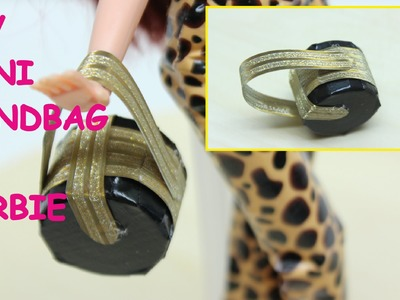 DIY Doll Crafts Easy: How to Make a Fashion Duct Tape Handbag for Barbie - Tutorial - Doll Dress Fun