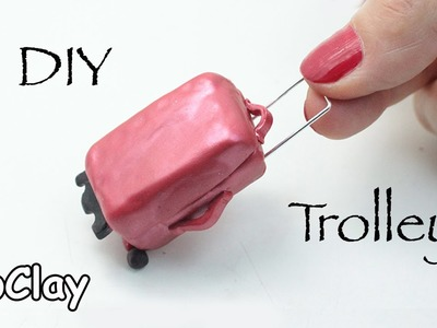 DIY Dollhouse - How to make a mini travel trolley