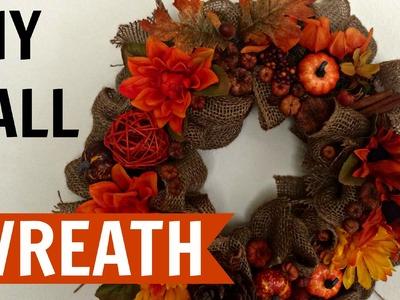 DIY Fall Wreath Under 13$ | Room Decor!