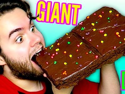 DIY Giant Cosmic Brownie! - HUGE Strawberry Shortcake Rolls! - GIANT Little Debbie Snacks Part 2 DIY