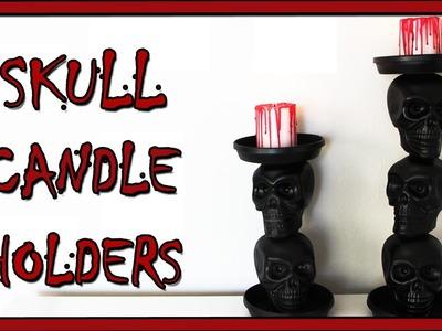 DIY HALLOWEEN DECOR: SKULL CANDLE HOLDERS