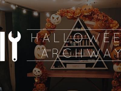 DIY Halloween Pumpkin Archway