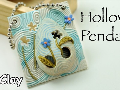 DIY  Hollow bead pendant - Polymer clay jewelry tutorial