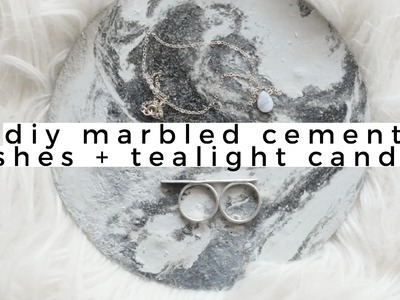 DIY Home Decor: Marble Cement Jewelry Dishes + Tealight Candles