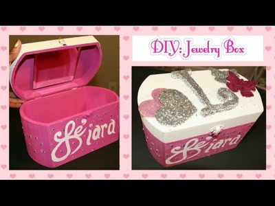 DIY: How to make a Jewelry Box with a Mirror | Storage box | Woodcrafting | DIY Crafts | Dollar Tree