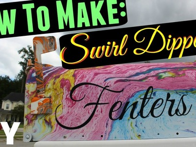 DIY - How to make a Swirl Dipped Mail Box #kryloncreated