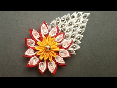 DIY How to Make Easy Beaded Satin Ribbon Flower Accessory | Kanzashi DIY Crafts