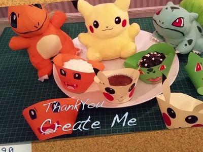 DIY Ideas for Pokemon themed birthday parties - Poke Cupcake Holder