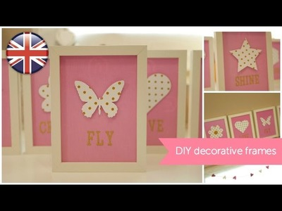DIY Inspirational frames. Home Decor tutorial