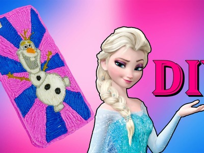 DIY iPhone case Frozen Olaf with 3d pen! Video for kids