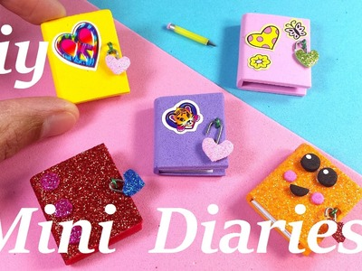 DIY Miniature Diaries. Journals - Easy & Cute!