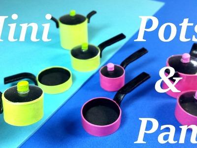 DIY Miniature Doll Pots & Pans!