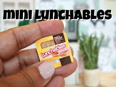 DIY MINIATURE LUNCHABLES