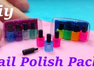 DIY Miniature Nail Polish Packs With or W.out Brush!