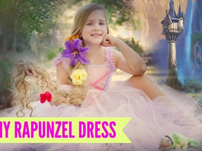 DIY NO SEW Rapunzel Costume TUTU Dress