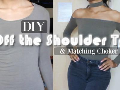 DIY | Off-The-Shoulder Choker Top. EASY!