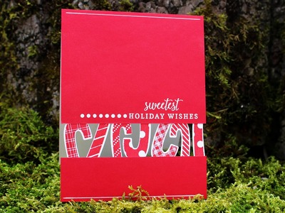 DIY Peek a boo Candy Cane Card - Stamp of Approval