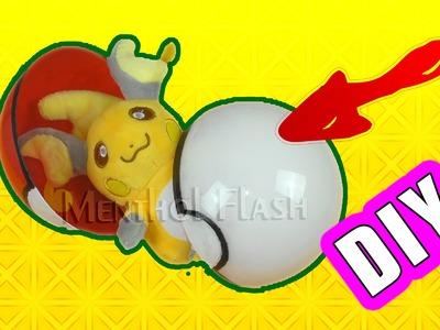 DIY POKEBALL with pikachu! Real POKEBALL!