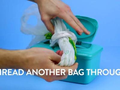 DIY Projects - super easy DIY Plastic Bag Dispenser | Diply | Crafty