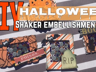 DIY SHAKER EMBELLISHMENTS .  HALLOWEEN| I'm A Cool Mom