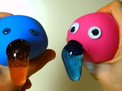 DIY Slime Stress Balls with enema