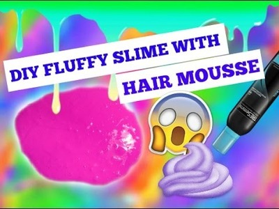 DIY SLIME WITH HAIR MOUSSE! No Borax Or Contact Lense Solution Needed! | Seba Styles