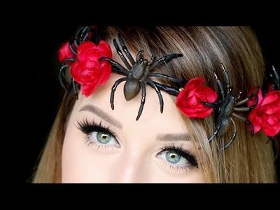 DIY SPIDER FLOWER CROWN | Halloween DIY