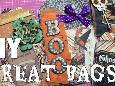 DIY Treat Bags. Halloween Embellishment. October Daily Inserts | I'm A Cool Mom