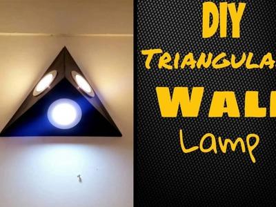 DIY Triangular Wall Lamp. Light tutorial