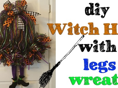 Diy witch hat with legs wreath