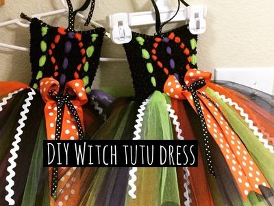 DIY Witch tutu dress for Halloween