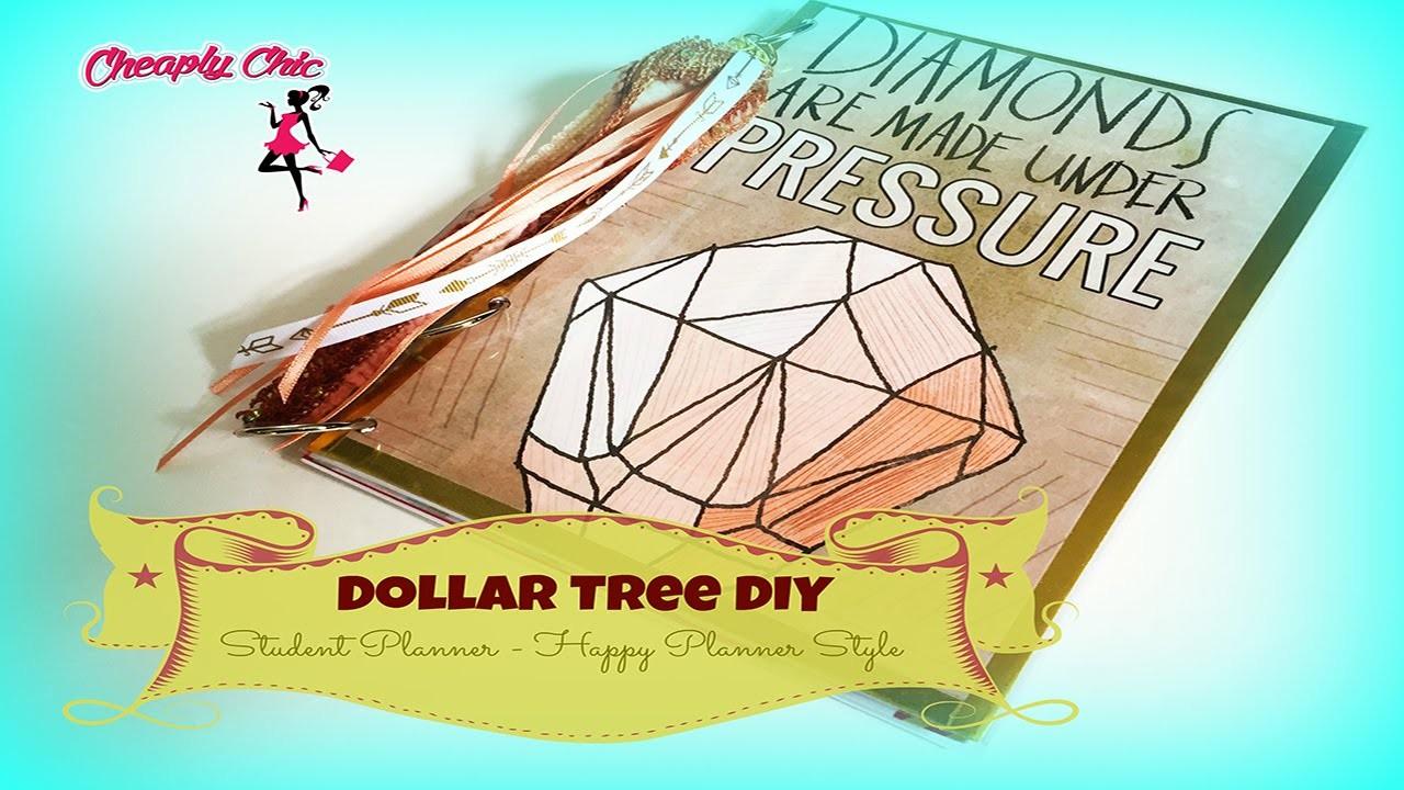 Dollar Tree DIY: Enhanced Student Planner. Calendar #2 Happy Planner Style!