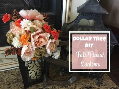 DOLLAR TREE DIY | Fall Floral Lantern Tutorial | 2016