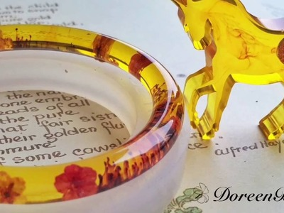 Doreenbeads Jewelry Making Tutorial - How to DIY Resin Bangle with Clear Silicone Mold