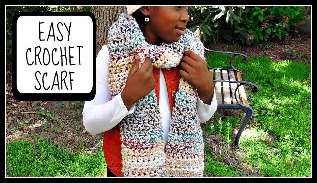 Easy Crochet Scarf for Beginners