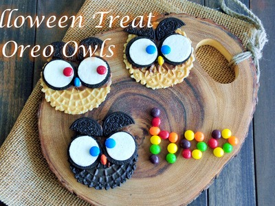 Easy DIY Halloween Treats - How to Make Oreo Owls Cookies