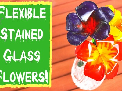 """EASY DIY PROJECTS- Flexible """"Stained Glass"""" Flowers!"""