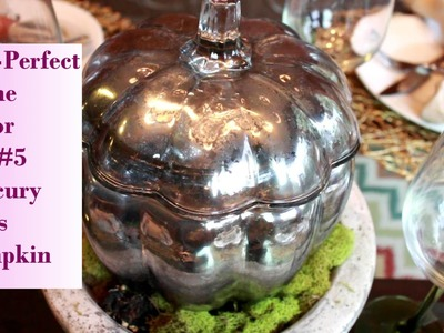 Fall-Perfect Home Decor DIY #5 Mercury Glass Pumpkin