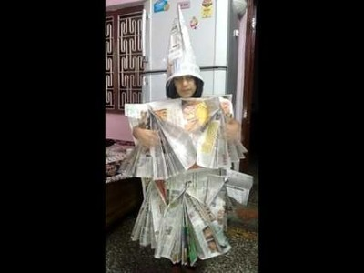 Fancy dress for recycle of paper