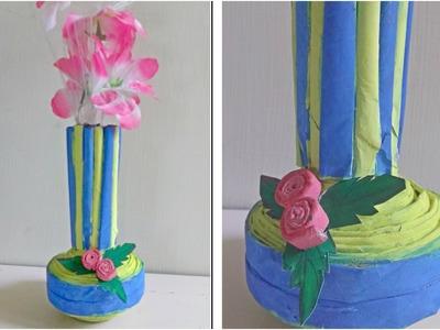 Flower Vase with Newspaper || DIY Flower Pot || Best from waste-Newspaper