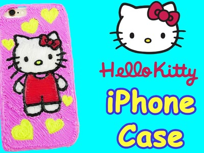 Hello kitty DIY iPhone case with 3d pen! BEST HANDMADE PRESENT EVER !